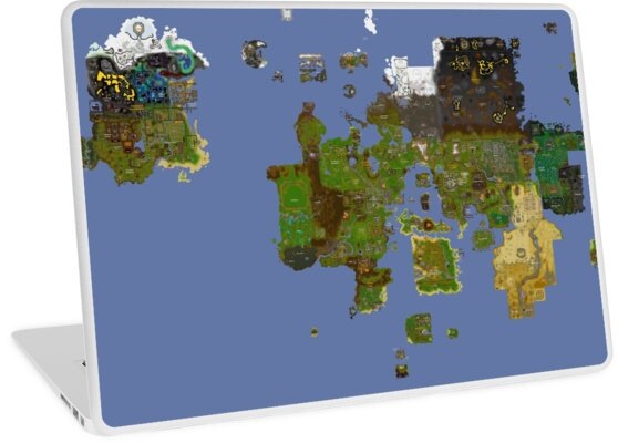 Old Runescape World Map.Oldschool Runescape World Map Laptop Skins By Ragsmaroon Redbubble