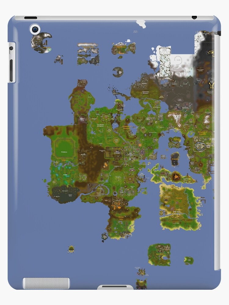 Old Runescape World Map.Oldschool Runescape World Map Ipad Cases Skins By Ragsmaroon