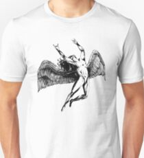 ICARUS THROWS THE HORNS - black ***FAV ICARUS GONE? SEE BELOW*** Unisex T-Shirt