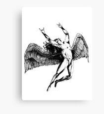 ICARUS THROWS THE HORNS - black ***FAV ICARUS GONE? SEE BELOW*** Canvas Print