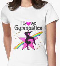 PRETTY I LOVE GYMNASTICS DESIGN Women's Fitted T-Shirt