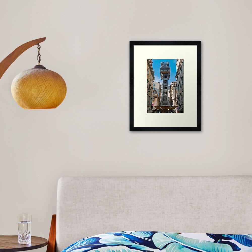 Elevador de Santa Justa Framed Art Print