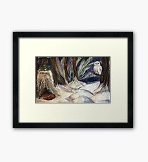 The Holly King and The Watcher Framed Print