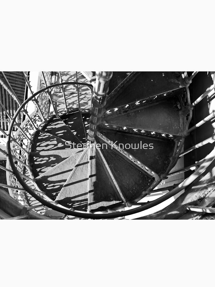 Spiral Staircase of the 'Elevador de santa Justa' by stephenknowles