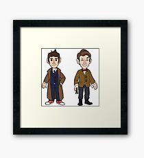 Ten and Eleven Doctors Framed Print