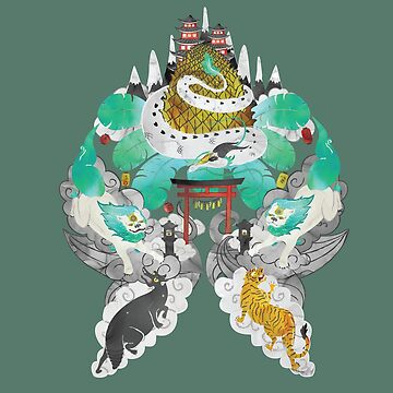 Oriental Sky Temple Legends by BowerbirdHouse