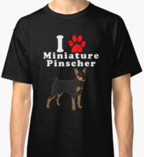 I Love My Miniature Pinscher in the Year of the Dog Adopt & Rescue Dog Lover Mom or Dad Save Abandoned Pet Classic T-Shirt