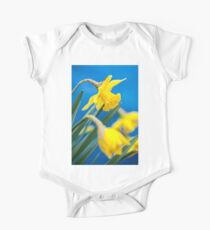 Yellow Daffodils One Piece - Short Sleeve