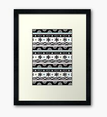 cheerful black Framed Print