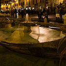 Oasis of Calm Water in the Middle of the Hustle and Bustle of the Piazza by Georgia Mizuleva