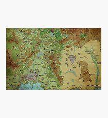 Dragon Pass und Prax Karte von Darya Makarava Fotodruck