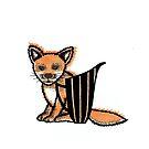 Fox hiding by jaqueline  storm