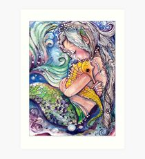 SeaHorse Hugs Art Print