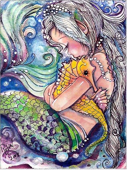 SeaHorse Umarmungen von Robin Pushe'e