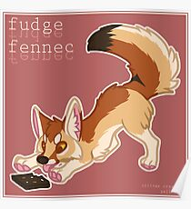 Fudge Fennec Fox Poster