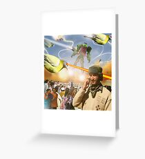 Over & Out, We Are Under Attack: Launch The Karachi Kickbots Greeting Card
