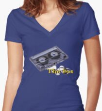 The 80s Women's Fitted V-Neck T-Shirt