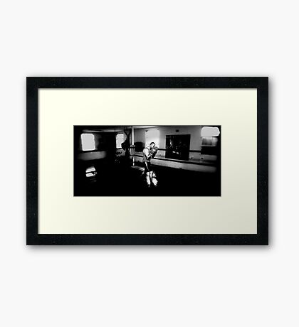 SHADOW BOXING Framed Print