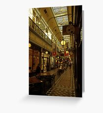 Adelaide Arcade. Greeting Card