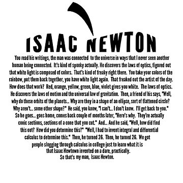 Isaac Newton by Neil Degrasse Tyson by alexcarvalho