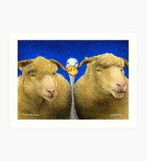 Will Bullas / art print / between the sheeps ... / humor / animals Art Print