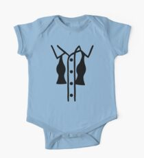Shirt bow tie One Piece - Short Sleeve