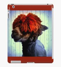 Odie the Alpaca, With a Spot of Color iPad Case/Skin