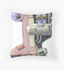 Bongship Throw Pillow