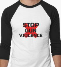 Stop Gun Violence Men's Baseball ¾ T-Shirt