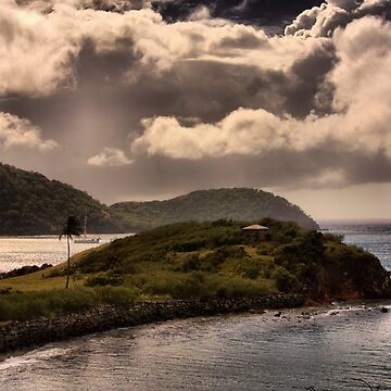 Mist over Carlisle Bay Antigua by BlackDogCountry