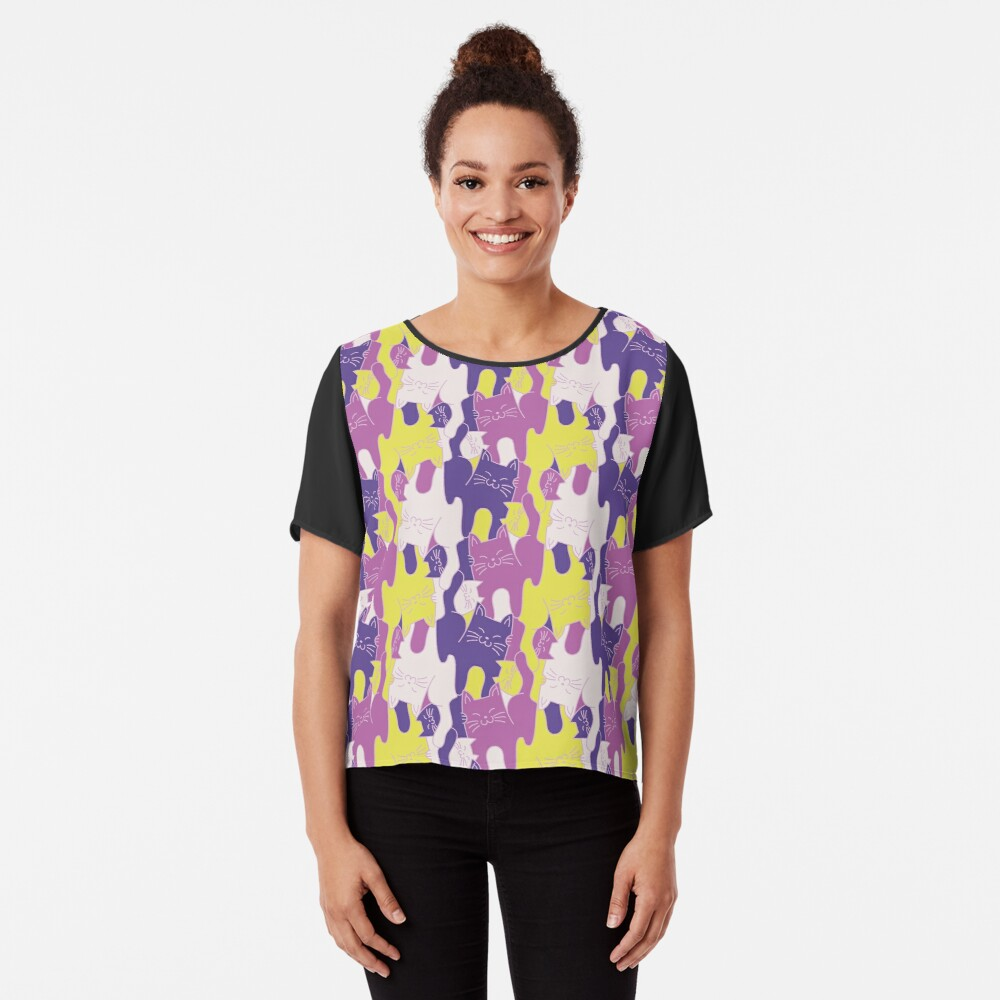 You're Purr-fect! In violet Chiffon Top