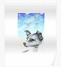 Laika, Weltraumhund Poster