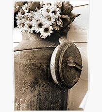 Rust & Flowers Poster