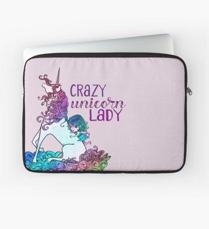 Crazy Unicorn Lady Laptop Sleeve