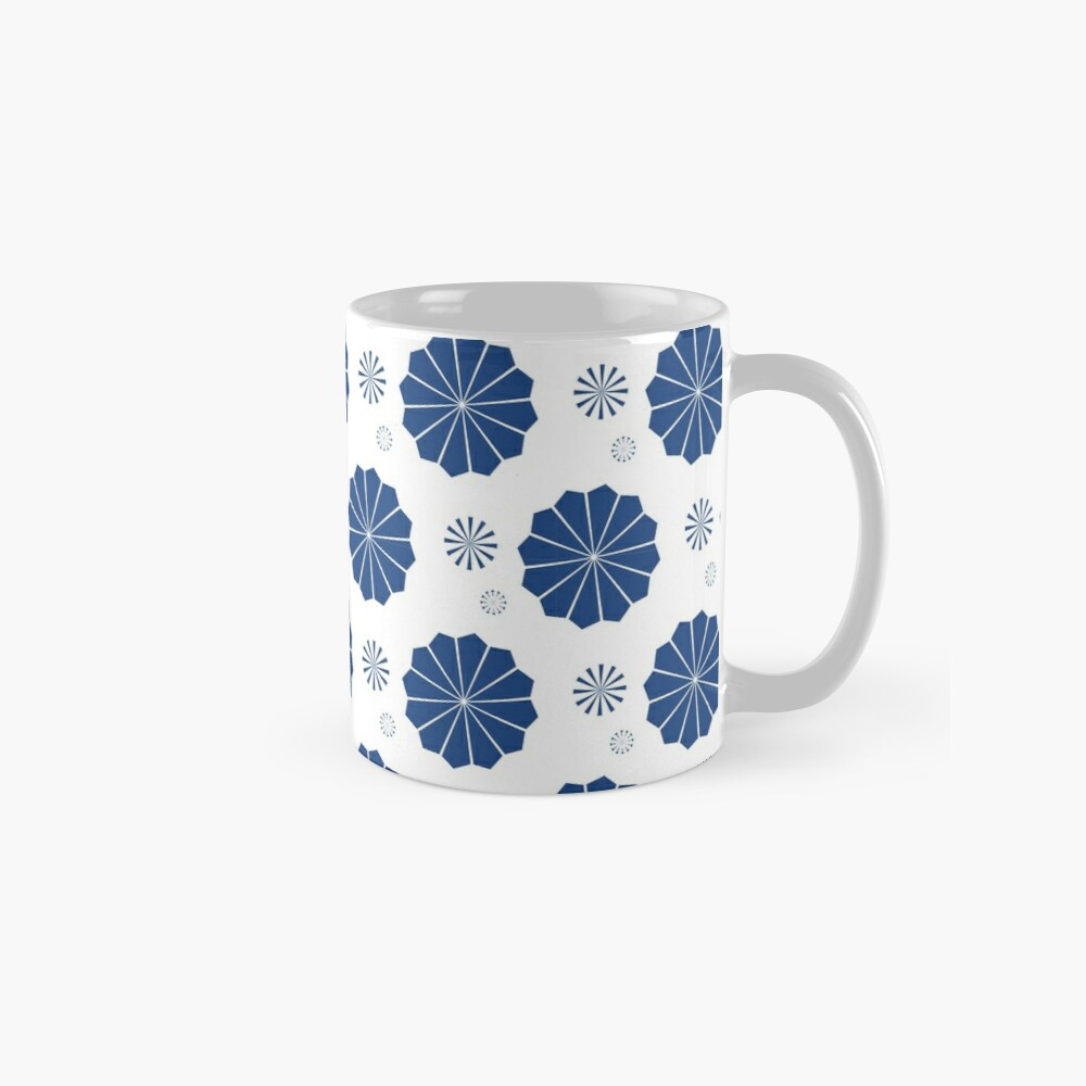 Blue and White Flowers Mugs