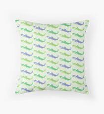 happy alligators purple Throw Pillow