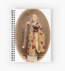 Japanese buddhist priest Spiral Notebook
