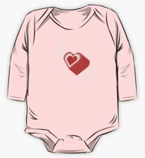 Ur my Fave - candy hearts Long Sleeve Baby One-Piece