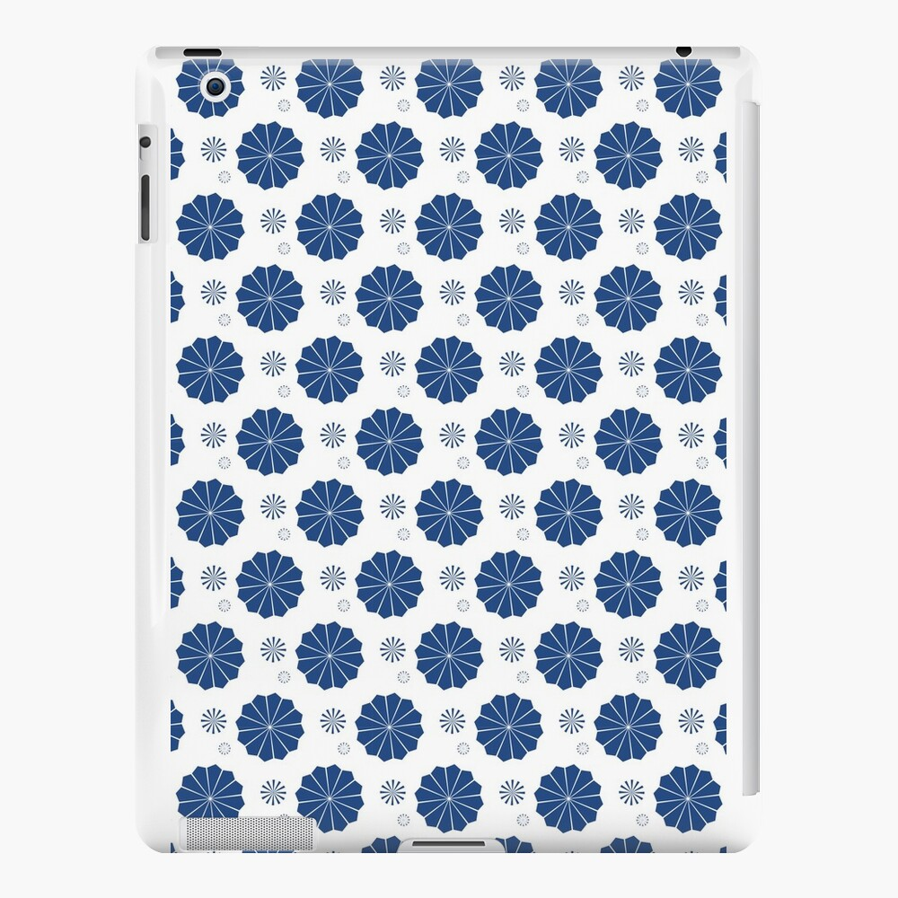 Blue and White Flowers iPad Cases & Skins