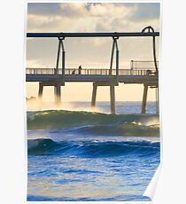 Sand Pumping Jetty Poster