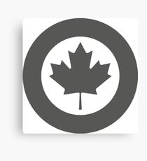 Roundel of Canada (Grey) Canvas Print