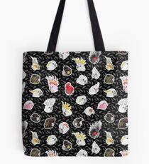 21 Cockatoos (in black) Tote Bag