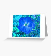 I Love Blue Greeting Card