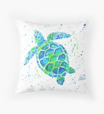 Sea Turtle by Jan Marvin Throw Pillow