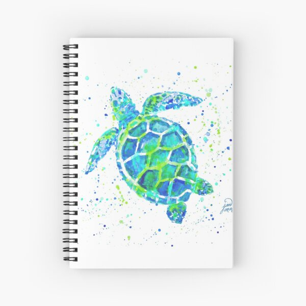 Sea Turtle by Jan Marvin Spiral Notebook