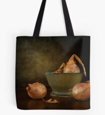 Shallots In A Pottery Bowl Tote Bag