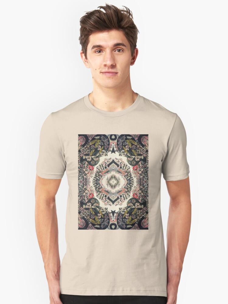 Fractal Typography Unisex T-Shirt Front