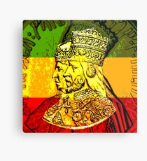Seine Majestät Haile Selassie Kaiserin Menen Metalldruck