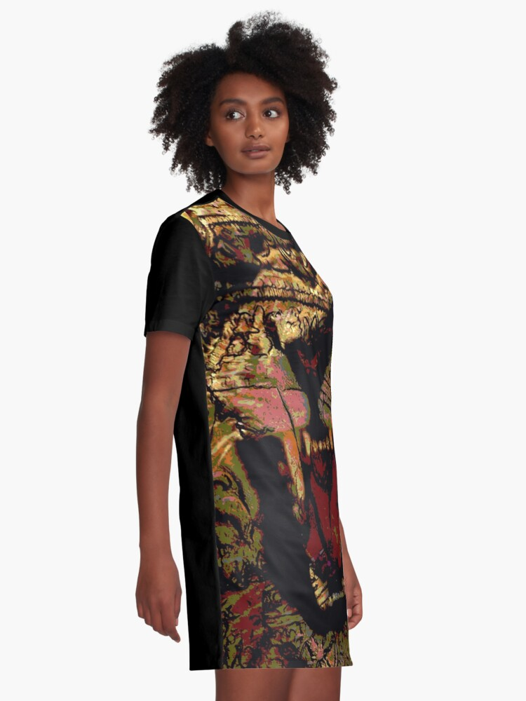 Alternate view of Jah Rasta Lion Power Graphic T-Shirt Dress