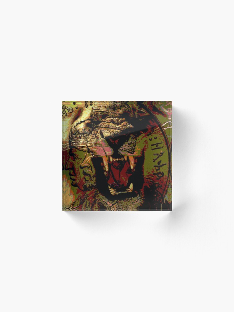 Alternate view of Jah Rasta Lion Power Acrylic Block
